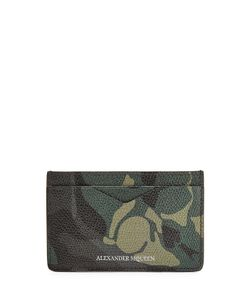 Alexander McQueen | Camouflage Printed Leather Card Holder Gr. One Size