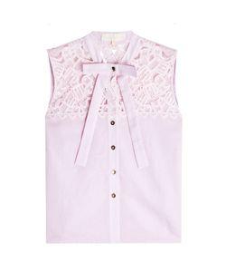 Marina Hoermanseder   Cotton Blouse With Lace Gr. De 38