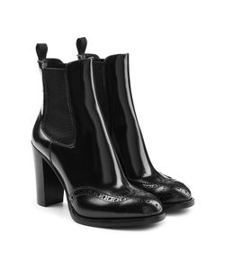 Church'S | Leather Ankle Boots With Brogue Detailing Gr. Eu 38