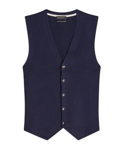 Baldessarini | Cotton Vest With Cashmere Gr. Eu 48