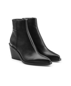 Rag & Bone | Leather Ankle Boots With Wedge Gr. It 39