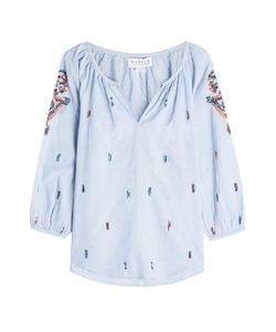 Velvet   Embroidered Cotton Shirt Gr. S