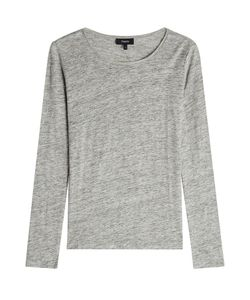 Theory | Long Sleeved Linen Top Gr. L