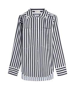 Nina Ricci | Striped Cotton Shirt With High-Low Hemline Gr. S