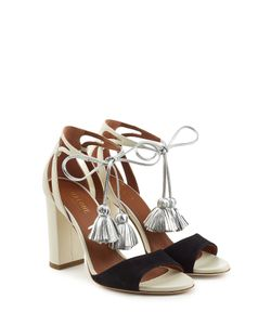 MALONE SOULIERS | Gladys Suede And Leather Sandals With Tassels Gr. Eu 38.5
