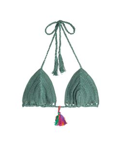 ANNA KOSTUROVA | Crochet Knit Bikini Top Gr. S