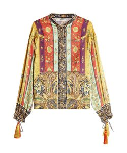 Etro | Printed Silk Blouse With Tassels Gr. It 38