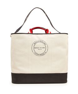 Sonia Rykiel | Printed Canvas Tote With Leather Gr. One Size