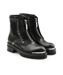 Alexander McQueen | Stud Flat Embellished Leather Ankle Boots Gr. It 39