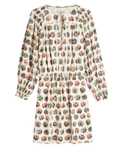 Burberry London | Printed Silk Dress Gr. Uk 10