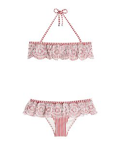 Zimmermann | Striped Bikini With Embroidered Detail Gr. 2
