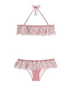 Zimmermann | Striped Bikini With Embroidered Detail Gr. 2