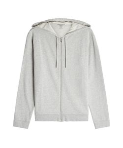 Majestic | Zipped Cotton Jacket With Hood Gr. M