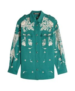 Roberto Cavalli | Embroidered And Embellished Cotton Shirt Gr. It 40