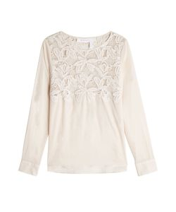See By Chloe | Lace Appliqué Cotton Top Gr. Fr 42