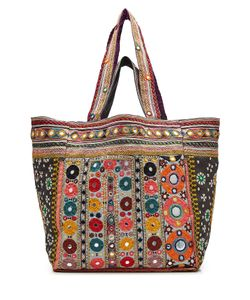 Star Mela   Embroidered Tote With Mirrored Detail Gr. One Size