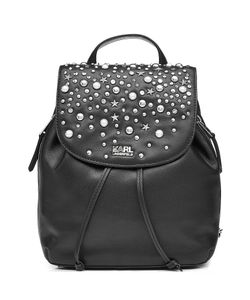 Karl Lagerfeld | Embellished Leather Backpack Gr. One