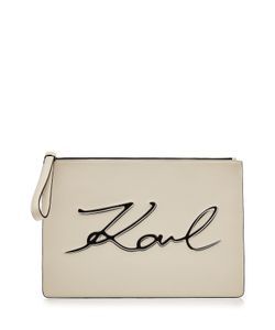 Karl Lagerfeld | Zipped Leather Clutch Gr. One