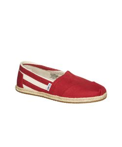 Toms | Red Stripe University Mn Clsc Alprg