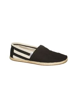 Toms | Black Stripe University Mn Clsc Alprg