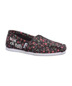 Toms | Black Textile Floral Wm Alpr Esp