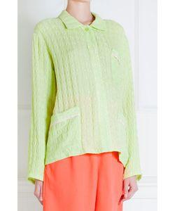 Tzipporah   Салатовая Шелковая Рубашка