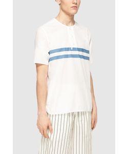YMC   Рубашка Из Хлопка И Льна