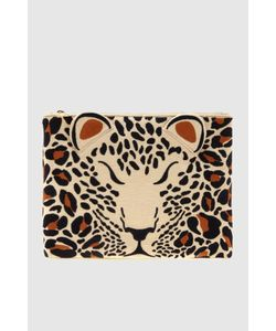 Charlotte Olympia   Клатч Из Льна Feral Pouch