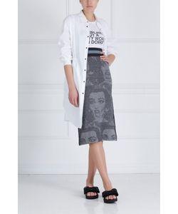 MO&Co   Хлопковое Платье-Рубашка