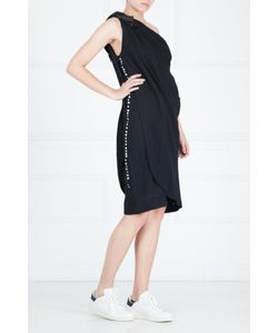 Azzaro | Платье Из Шерсти И Шелка