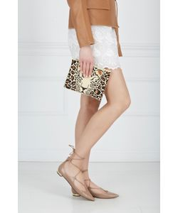 Charlotte Olympia | Клатч Из Льна Feral Pouch