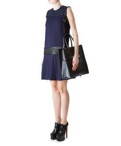 Proenza Schouler | Прямое Платье С Вставками На Плечах И Поясе