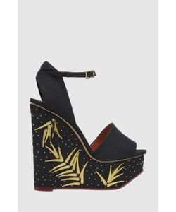 Charlotte Olympia | Текстильные Босоножки Mischievous Wedges