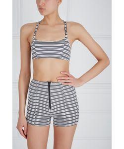 Lisa Marie Fernandez | Кроп-Топ Bws Zip Stripe Bralette