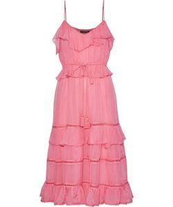 4bfe6e8764e5 Love Sam - Blossom Lattice-Trimmed Ruffled Voile Dress Size