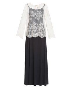 Twin-set | Платье Из Вискозы С Кружевной Блузой Sf-184832