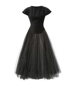 Cyrille Gassiline   Велюровое Платье С Подъюбником 182758