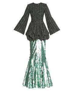 Apollon Bygakoff | Платье Из Шерсти С Юбкой В Пайетках 174263