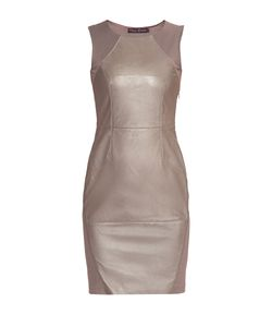 Stella Di Mare   Платье Из Вискозы С Кожаной Отделкой 175358