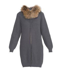 Fashion Cashmere | Кардиган Из Шерсти С Отделкой Из Меха Енота 177119