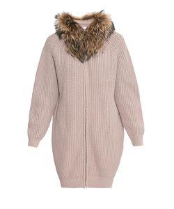 Fashion Cashmere | Кардиган Из Шерсти С Отделкой Из Меха Енота 177120