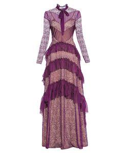 Zuhair Murad | Кружевное Платье С Шелковыми Вставками 177537