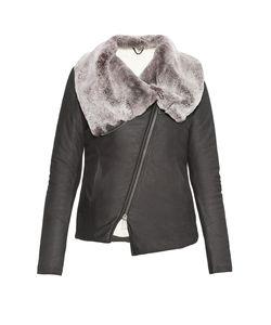 10Sei0Otto | Утепленная Кожаная Куртка С Меховой Отделкой 179770
