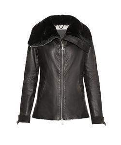 10Sei0Otto | Кожаная Куртка С Меховой Отделкой 179771