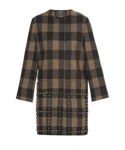 Etro | Пальто Из Шерсти Декорированное Заклепками Nd-182486