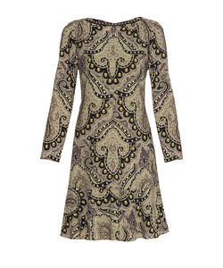 Etro | Платье Из Шерсти С Кожаной Отделкой И Заклепками Nd-182488