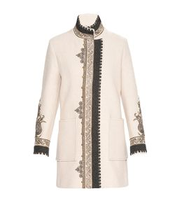 Etro | Пальто Из Шерсти Декорированное Клепками Nd-182485