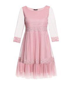 Twin-set | Платье Из Искусственного Шелка С Кружевом Sf-184858