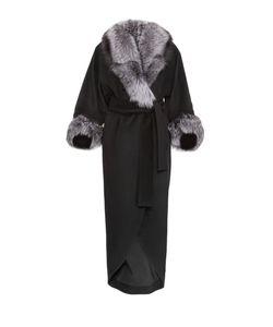 Charisma | Кашемировое Пальто С Меховой Отделкой И Поясом 425459/2/13Д