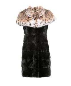 PT Quality Furs | Норковый Жилет С Отделкой Из Меха Рыси 154881